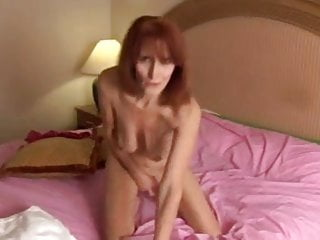 Skinny mature with saggy tits