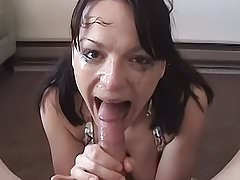 Deep Throating Huge Cock