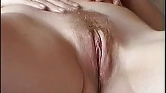 Danish wife's gorgeous hairy pussy getting licked