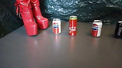 Lady L crush with extreme red boots cans.
