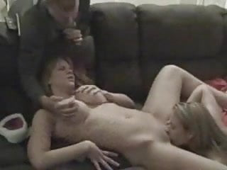 Watching His girlfriend Licking His Wife
