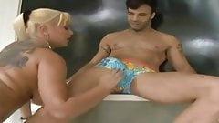 Latin Blonde babe anal