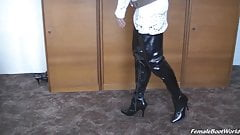 Beauty in Shiny Boots