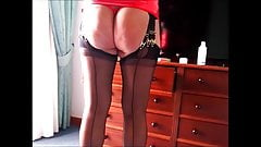 Holidays in the Arab country in ff stockings with bare bum