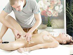 Kimberly enjoys oil massage and sex