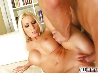 Maddy's oozing jizz out of her freshly fucked hole