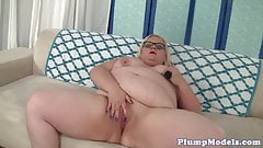 Fat mature masturbates with toys