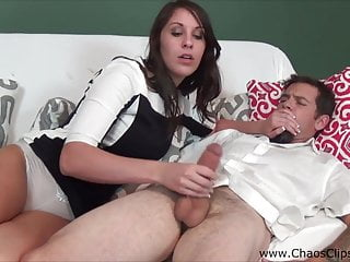 Hot Wife Amiee Cambridge Jerks Off Husband's Friend