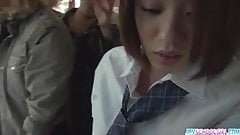 Schoolgirl Yuna asian blowjob and public fuck