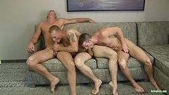 ActiveDuty Quentin Gainz BB with 2 Hot Military Men