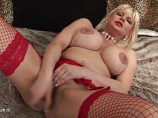 Hot amateur English MILF and her toy