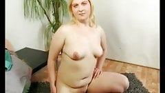 My Blonde Shy best ex GF showing her wet hairy pussy