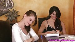 Teen lez Aspen Rae loves tasting Shae Snow sweet clit