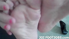 I will run my soft little feet up and down your cock JOI