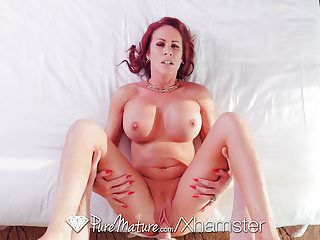 PURE MATURE Busty milf Sabrina Cyns shows experience skills