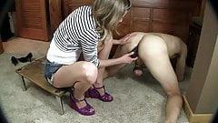 Ballbusting. Prostate Massage