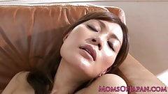 Rin Ninomiya uses vibrator on pussy