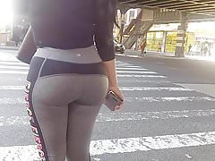 Bubble Booty Milf in Grey Spandex