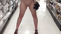 Slut wife flashing no panties