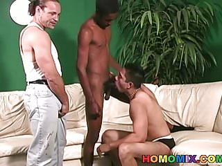 Preview 3 of White dude gets anal banged by black men