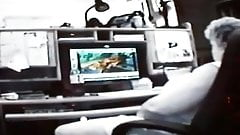 Gradma catch watching porn in pc
