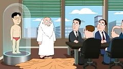 Gods Small Asian Penis Joke in American Cartoon for