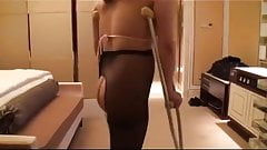 asian sak amputee crutches and wheelchar