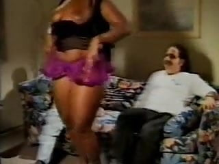Ron Jeremy and another guy fuck a chubby black girl