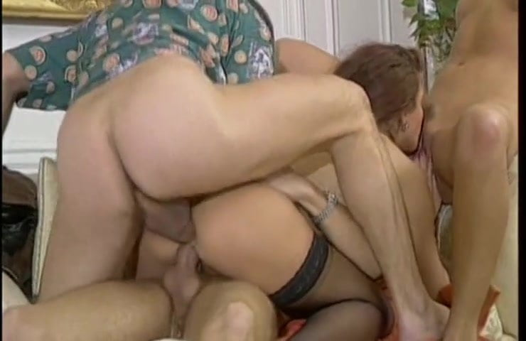 Brunette beauty is fucked in all holes 95%