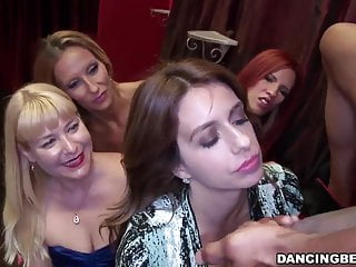 Horny ladies go crazy for cock