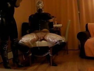 Preview 3 of intense P.O.T. femdom handjob private sesion with breathplay