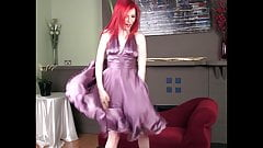 HeydiMar Bridesmaid smelling! her sexy Drooled Silk Dress!!