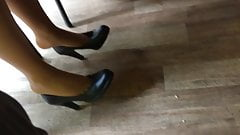 Candid feet and heels at work #10