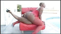 Thick Ebony Trbbing By The Pool