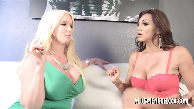 Preview 1 of Alura Jenson gets Fucked by Shemale Jessy Dubai