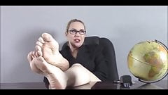 Blonde Teacher Show Her Sexy Feet