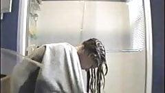 Spying my young girlfriend in bathroom. Hidden cam