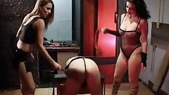 British slut Avalon in a kinky lesbian threesome