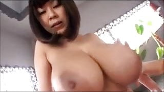 Huge All-Natural Japanese boobs in hardcore sex action..