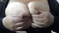 Busty lactating mom