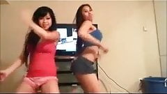 2 sexy asian girls dance