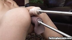 Nikki West Gets Her Holes Drilled By A Fucking Machine's Thumb