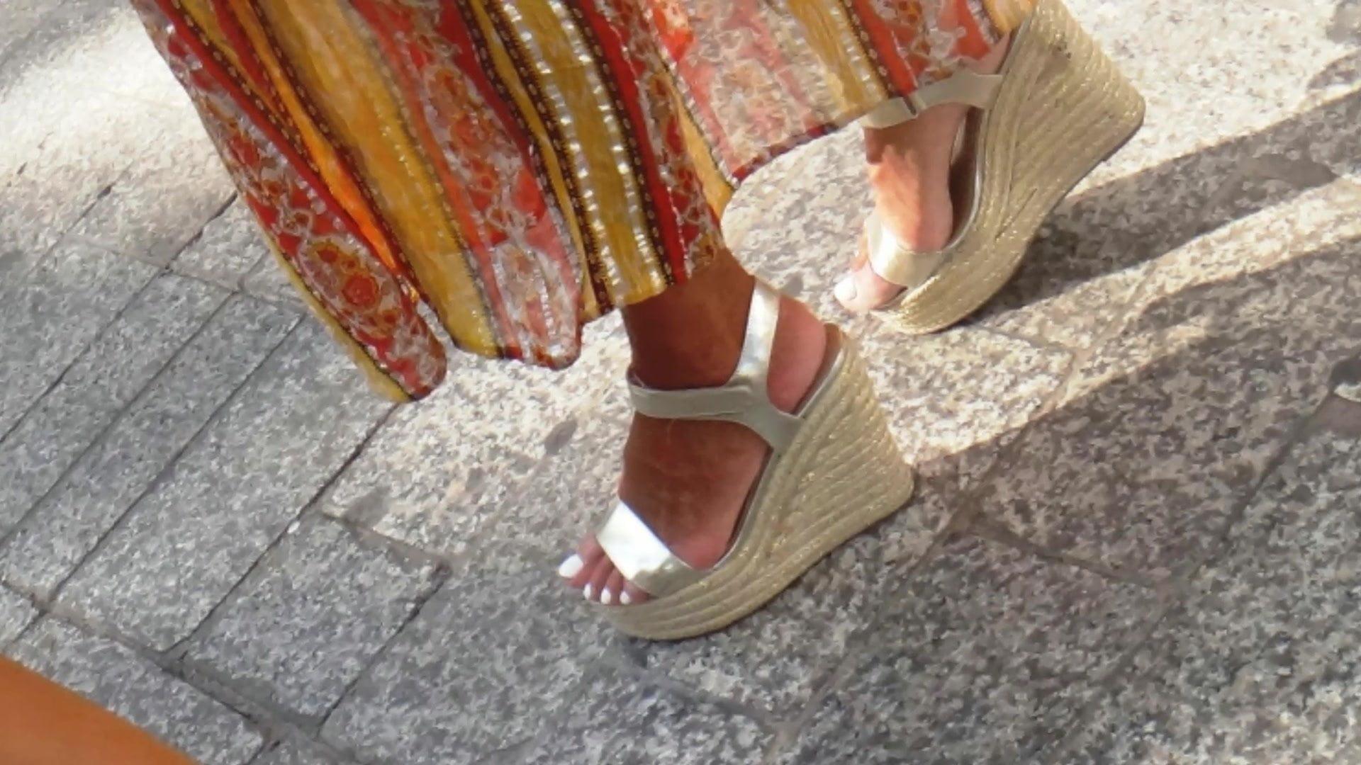 Horny ft in superb wegdes heels (Half 5)