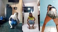 Tres Novinhas Gostosas Dancando Funk de Shortinho