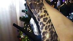 Lady L leopard high heels.