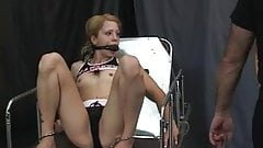 Young blonde is tortured in the bdsm dungeon by her older professor