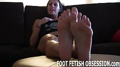 You get to rub our freshly pedicured feet