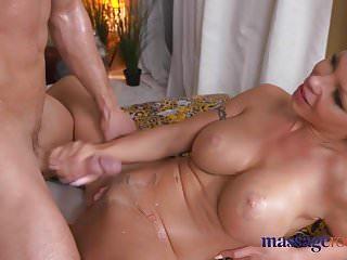 Massage Rooms Big Boobs blonde babe gives hot handjob