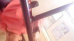 Upskirt Granny in tram! Amateur hidden cam!