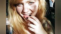 19yo Busty Blonde HUGE tongue